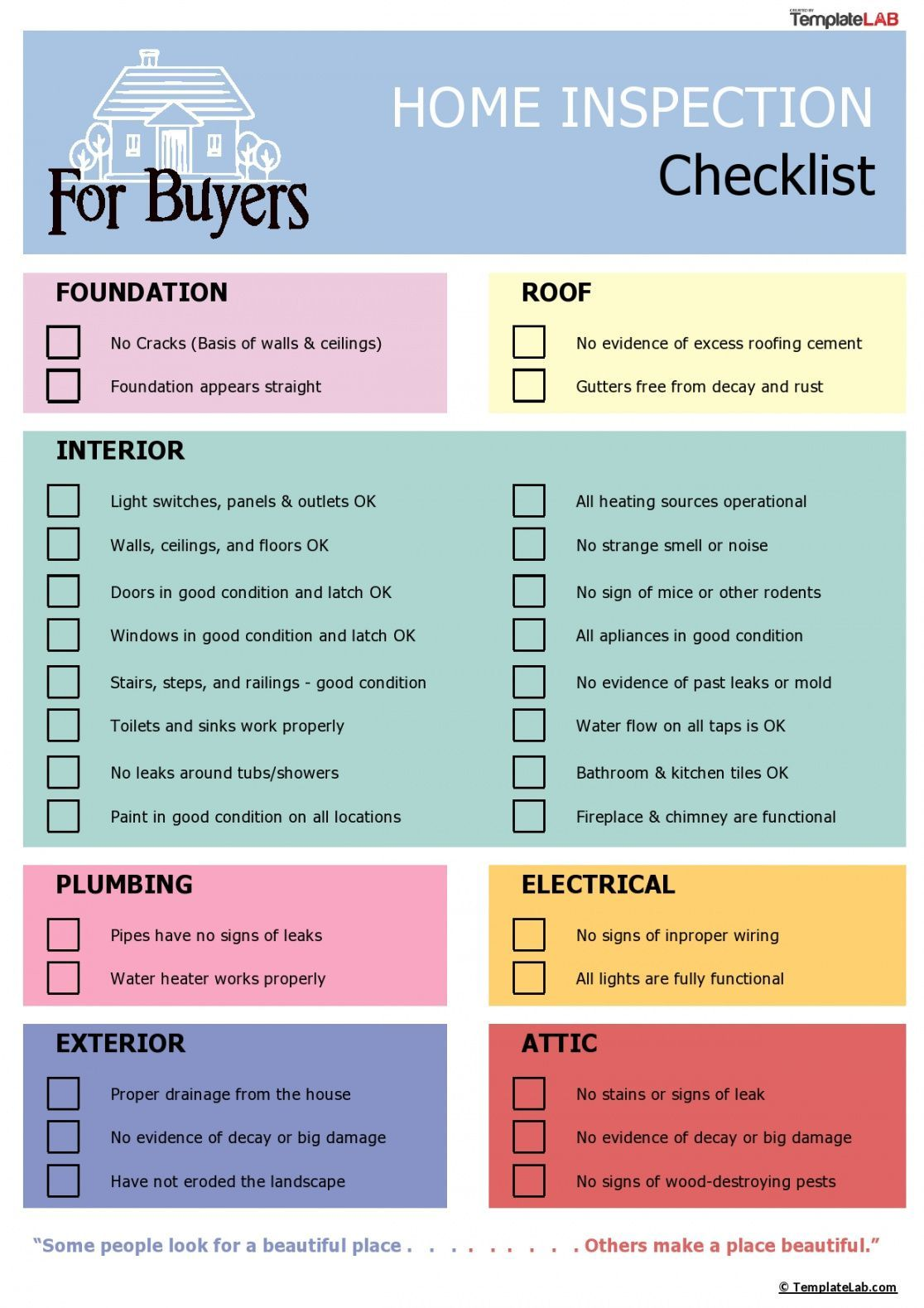 Browse Our Sample Of Buying A House Checklist Template For Free Inspection Checklist Home Inspection House Checklist
