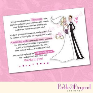 cash bridal shower wedding wishing well poem cards for your invitations for money cash