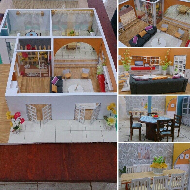 Estudio de maquetas dise o de interiores artes y - Casas miniaturas para construir ...