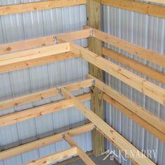Diy Corner Shelves For Garage Or Pole Barn Storage For