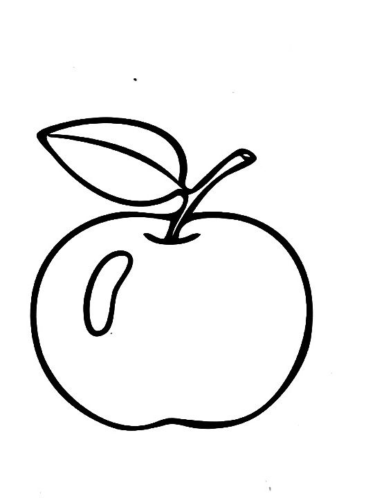 Apple Fruit Coloring Pages Kids | fruit and veggie coloring pages ...
