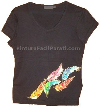 Pintar camiseta manualidades pinterest camisetas - Pinturas para pintar camisetas ...