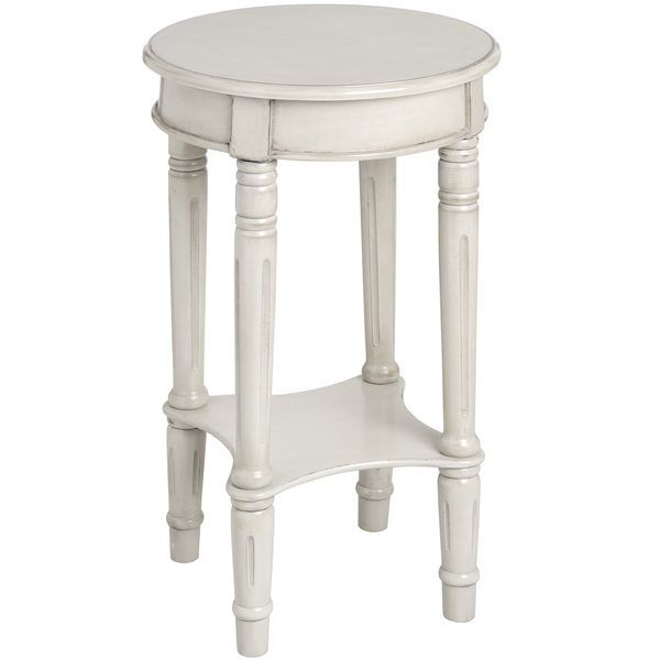 la parisienne shabby chic distressed white round lamp table
