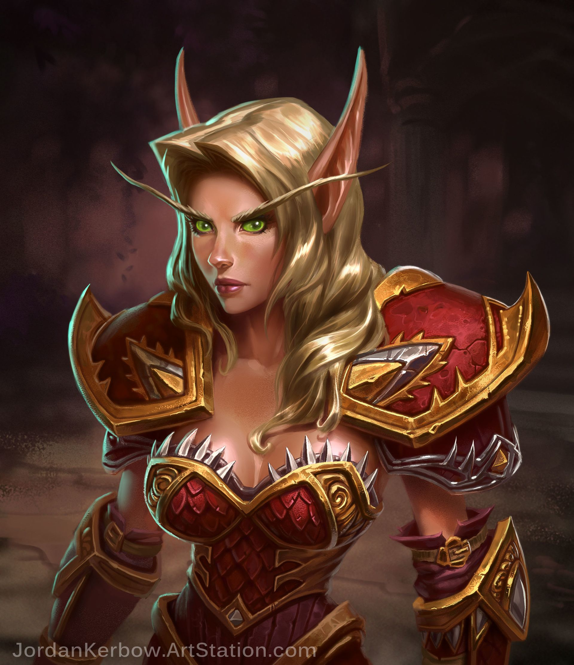 Warrior female blood elf