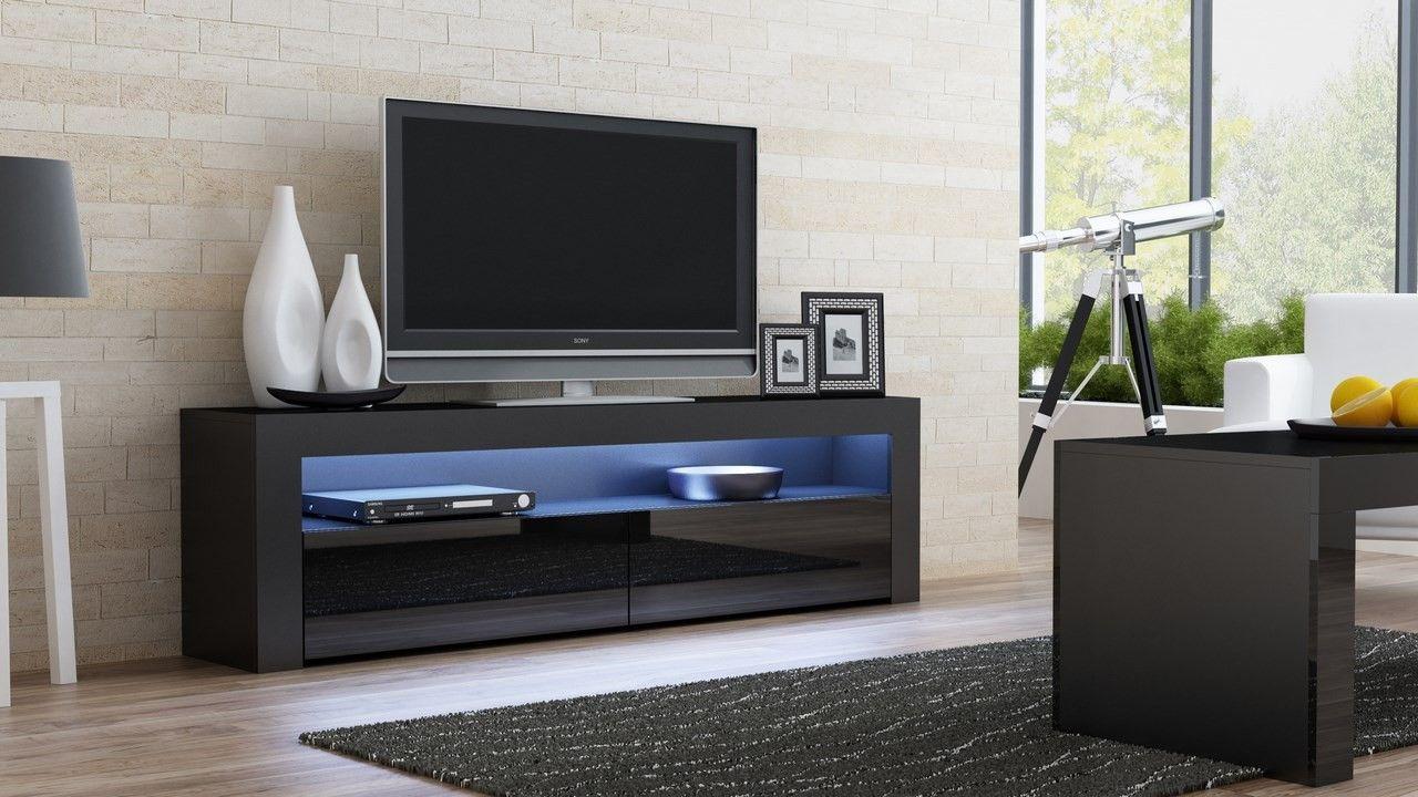 Modern design furniture Milano 157 Black finish | Tv stands, Black ...