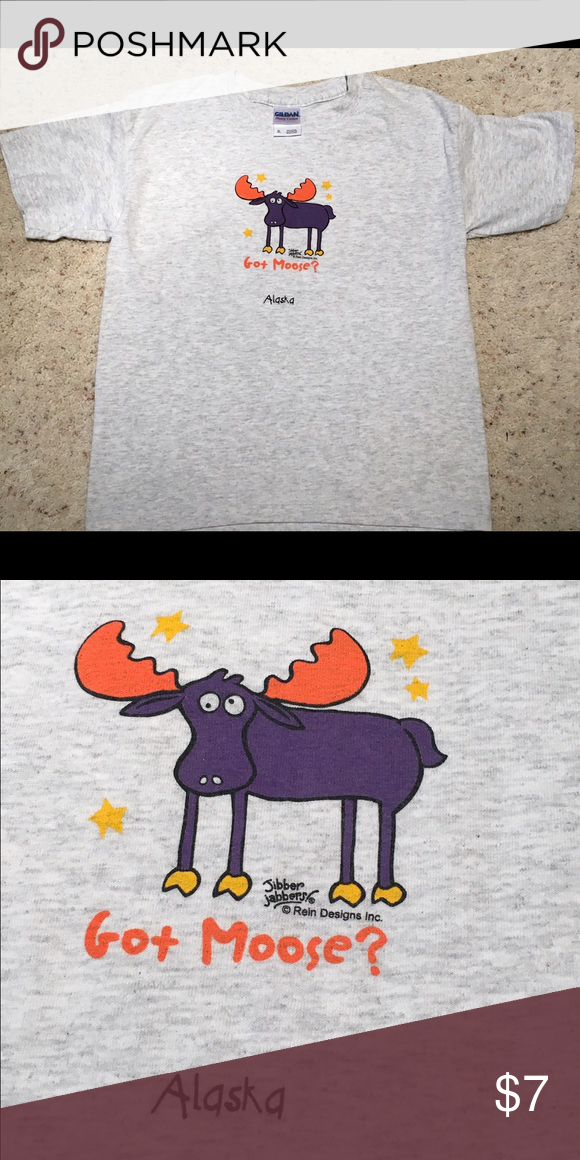NWOT Youth Medium Tee Shirt Alaska Moose This is a youth M. Never worn! Please see the pictures and email me with any questions. Thanks!💕 Shirts & Tops Tees - Short Sleeve