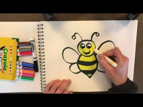 How To Draw And Color A Bumble Bee For Kids Youtube Bees For Kids Bumble Bee Bee