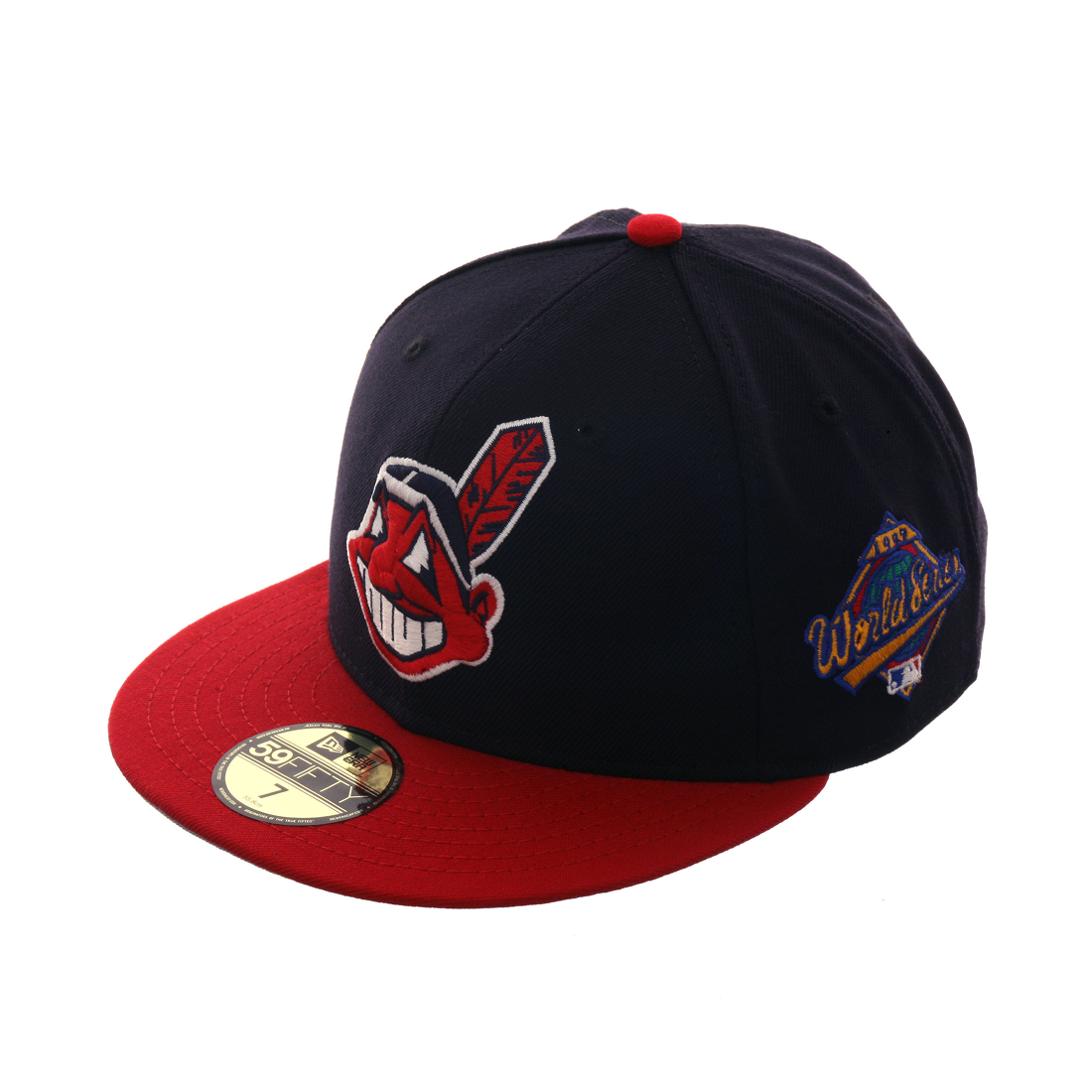 New Era 59fifty Cleveland Indians 1997 World Series Fitted Hat 2t Navy Red 40 00 Fitted Hats New Era 59fifty Cleveland Indians