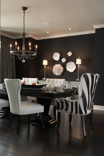 Black And White Dine And Dazzle Modern Dining Room Kansas