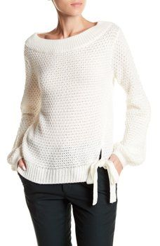 fa4e32397 SUSINA - Drop Shoulder Side Tie Sweater (Regular   Petite)
