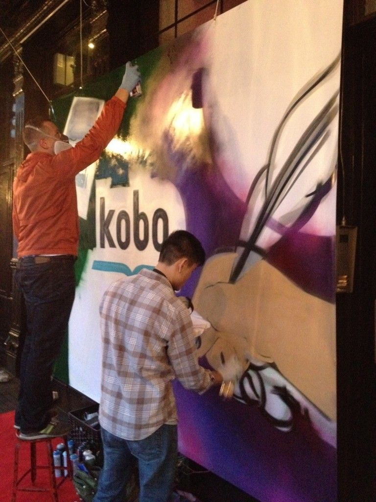Live Graffiti Painting for Backdrop / Step & Repeat at NYC Event ...
