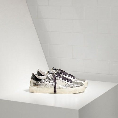 Golden Goose Donna - Acquistare Golden Goose May Donna Argento Viola ·  Sneakers ... d43f770d0078