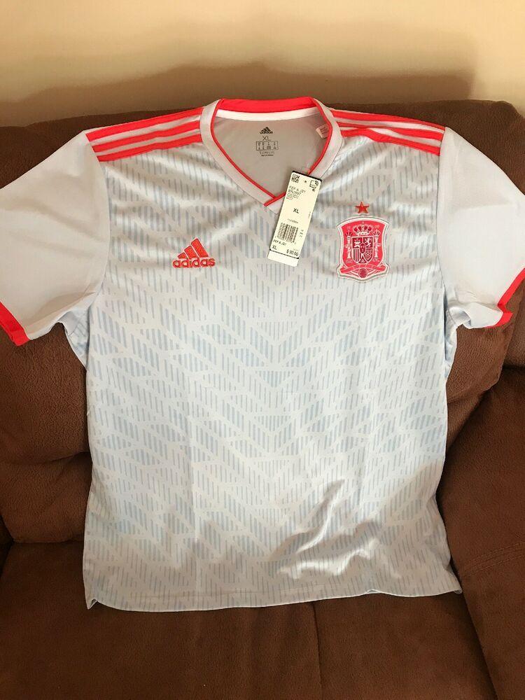 e48a9c083 Adidas Climalite Spain FEF National Team Soccer Jersey Size XL Men's BR2697  | eBay