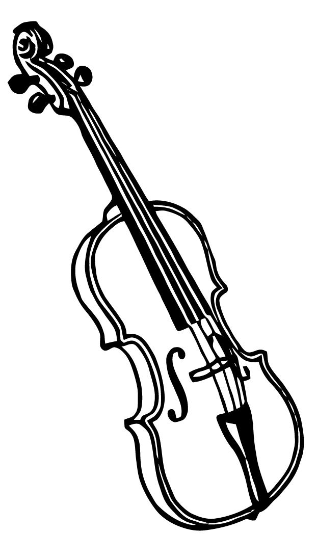 Free Vector Art Violin Keman Boyama Sayfalari Dovme Fikirleri