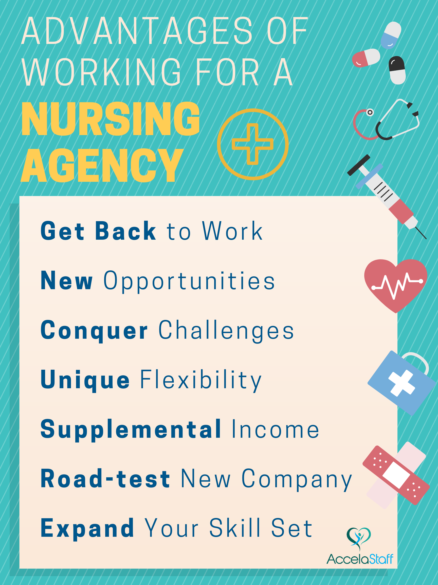 Don't just think of registering with a nursing agency as a
