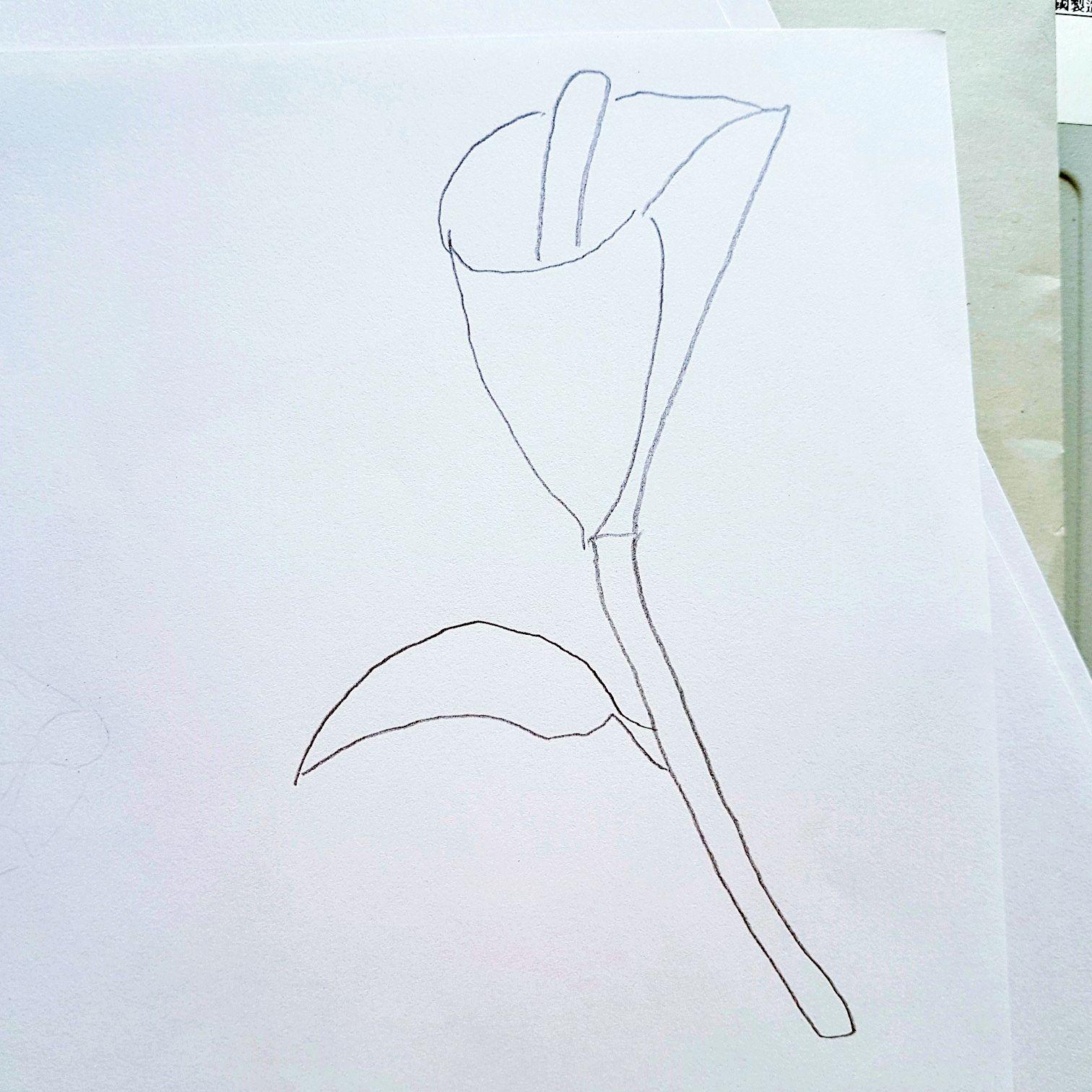 Anleitung zum zeichen von einem Blütenkelch