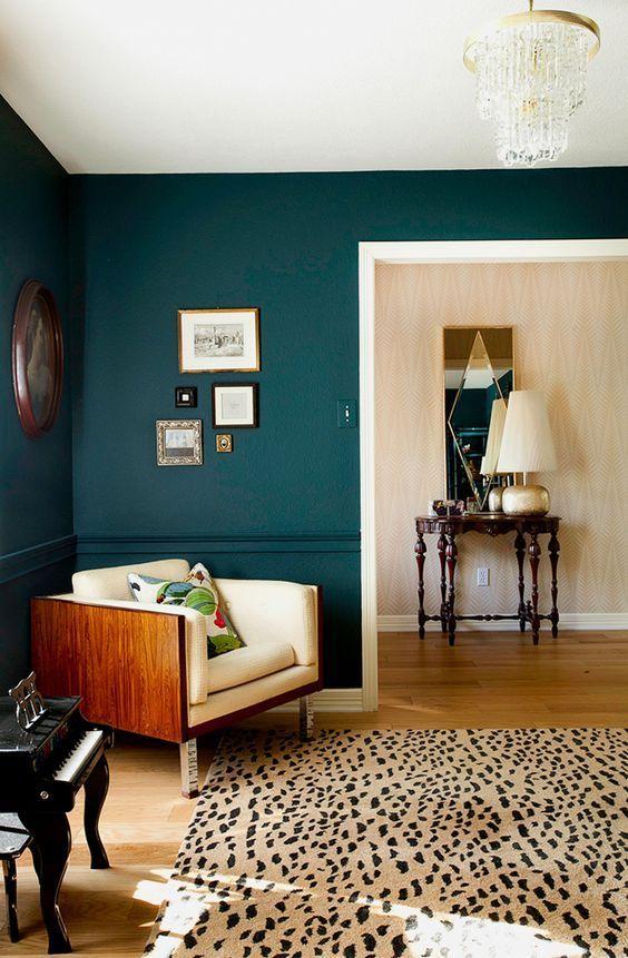 Dark Turquoise Living Room Walls Canvas Boho Bedroom Inspiration S W E T H O M Benjamin Moore Harbor Source