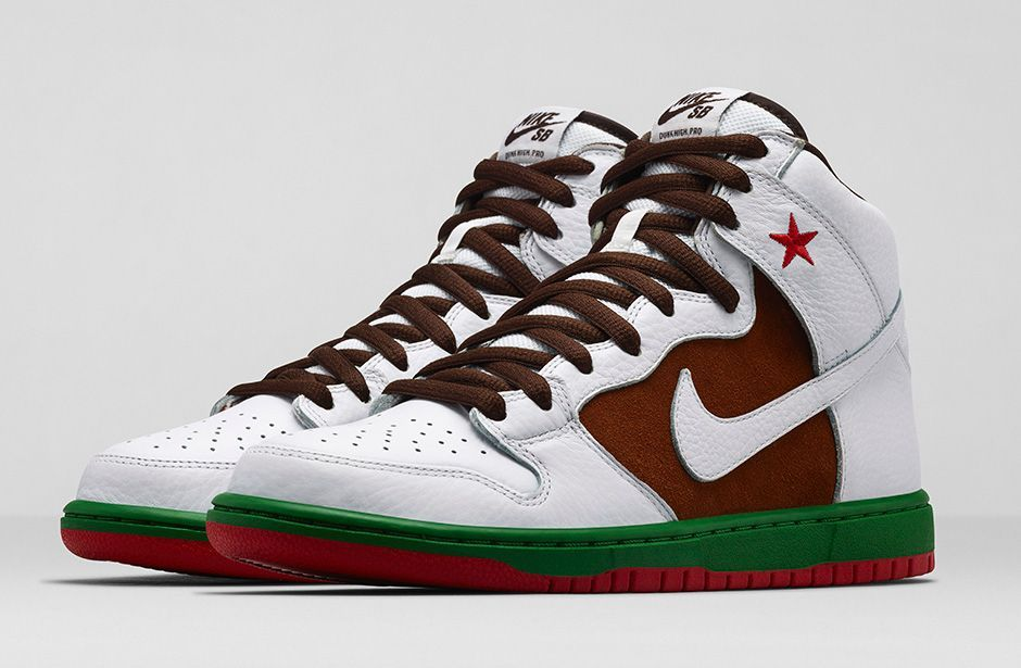 nike sb dunk high californiai cant wait until this drops hope rock city kicks get em