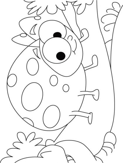 Happy Ladybug Coloring Pages