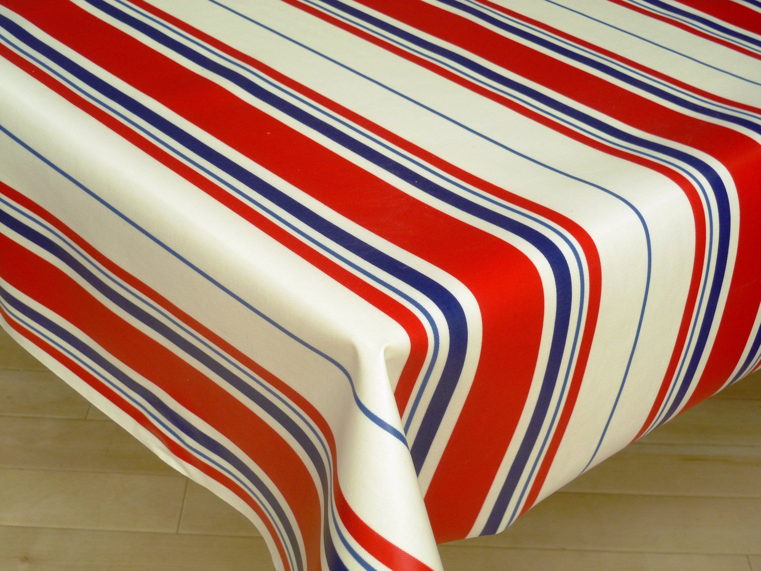Oilcloth Tablecloth Red White And Blue Striped Design Wipe Clean 90 Quot X 52 Quot Table Cloth Oil Cloth Oilcloth Tablecloth