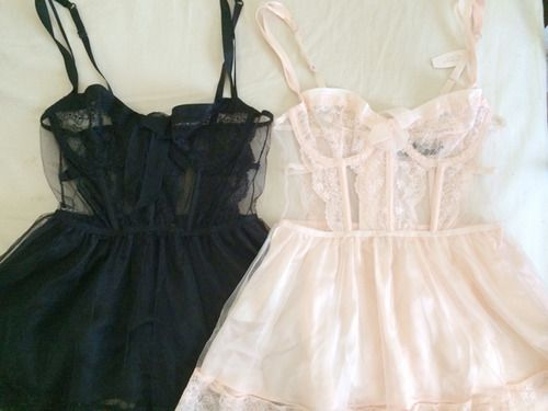 Tumblr Intimately Yours Lingerie Fashion Pastel Goth