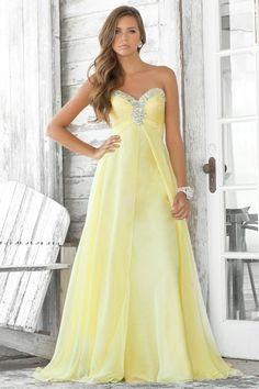 Belle robe de soiree jaune