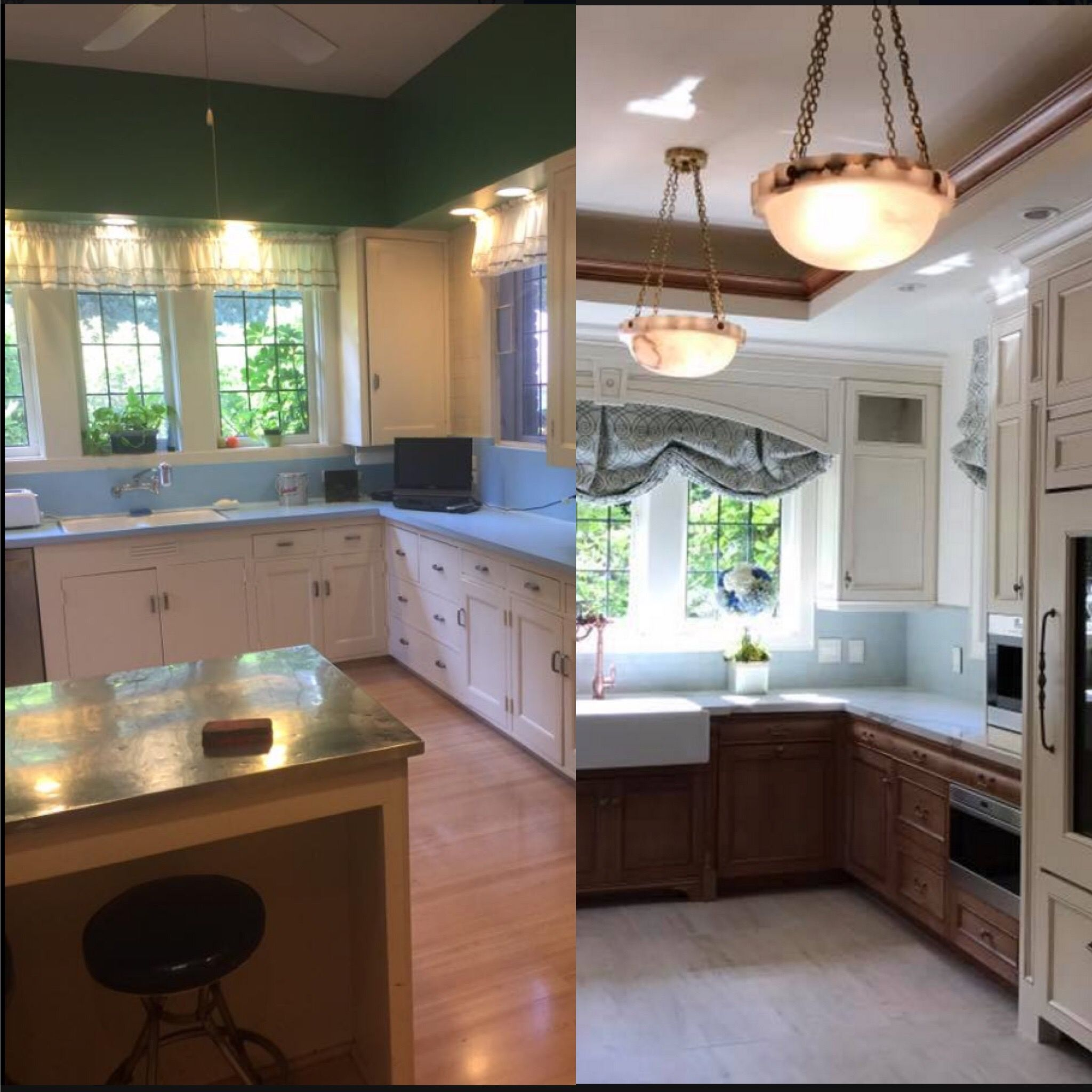 Before And After Shot Of The Kitchen From The 2017 Pasadena Showcase House Kitchen Cabinet Design Cabinetry Design Cabinet Design