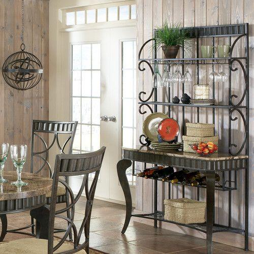 Lillianna Steel Baker S Rack Steve Silver Furniture Bakers Rack