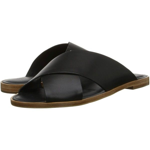 Loeffler Randall Echo Women's Sandals, Black ($175) ❤ liked on Polyvore featuring shoes, sandals, black, leather slip on shoes, leather slip on sandals, leather strap sandals, cross strap sandals and slip on shoes