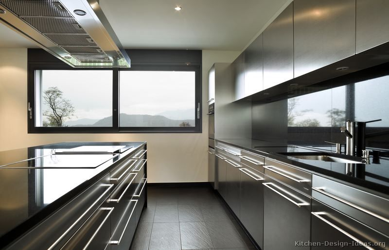 kitchen of the day: modern stainless steel kitchen cabinets (1 of