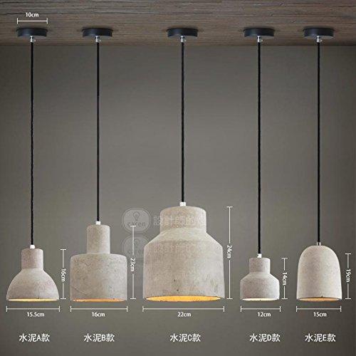Jj Moderne Led Pendelleuchten Lampe Im Europaischen Stil American Retro Leuchten Kreative Kronleuchter Beton Zement Kron Hangeleuchte Beleuchtung Pendelleuchte