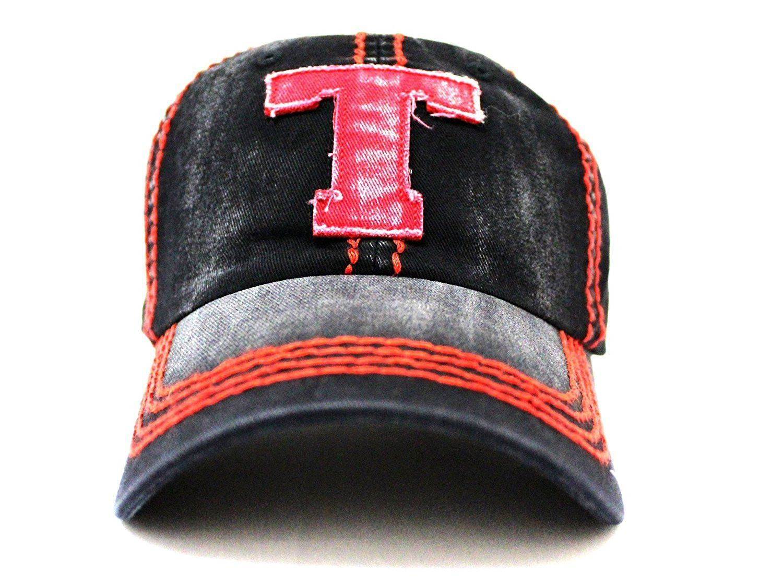 the best attitude 22e76 ebddb ... reduced texas tech black red t embroidered vintage baseball cap 7538f  b5fa0