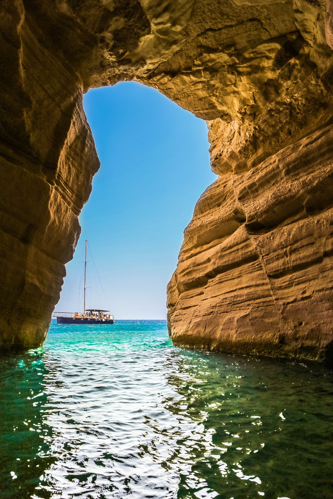 Cave Lagoon, Milos, Greece