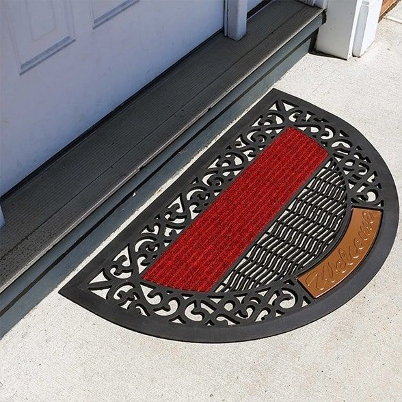 Fh Group Indoor Outdoor Arch Semi Circle Mats Rugs Doormat 16 X