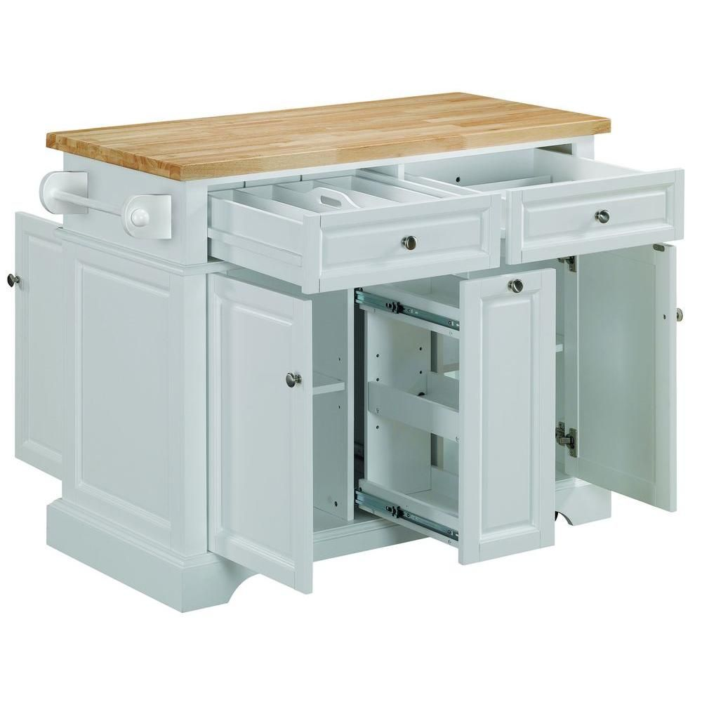 Tresanti 42 In W Summerville Rubberwood Kitchen Cart With Towel Bar In White Kc7005 T401 42 The Home Depot Rolling Kitchen Island Kitchen Island Cabinets Custom Kitchen Island,Lebanon New Hampshire Airport