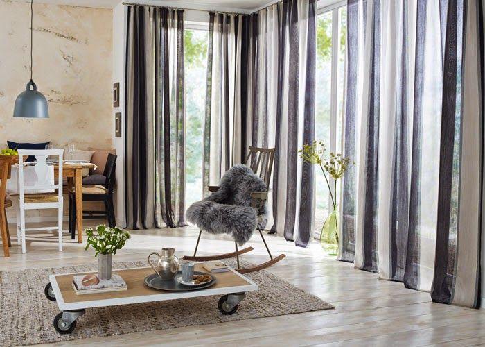 AARON #lana #llana #wool #cortina #visillo #decoracion #piedras #grises #listas #saumundviebahn #ontariofabrics