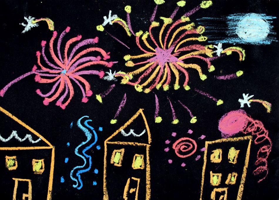 feuerwerk 2009 von naomi 8 be zeichnen kindergarten. Black Bedroom Furniture Sets. Home Design Ideas