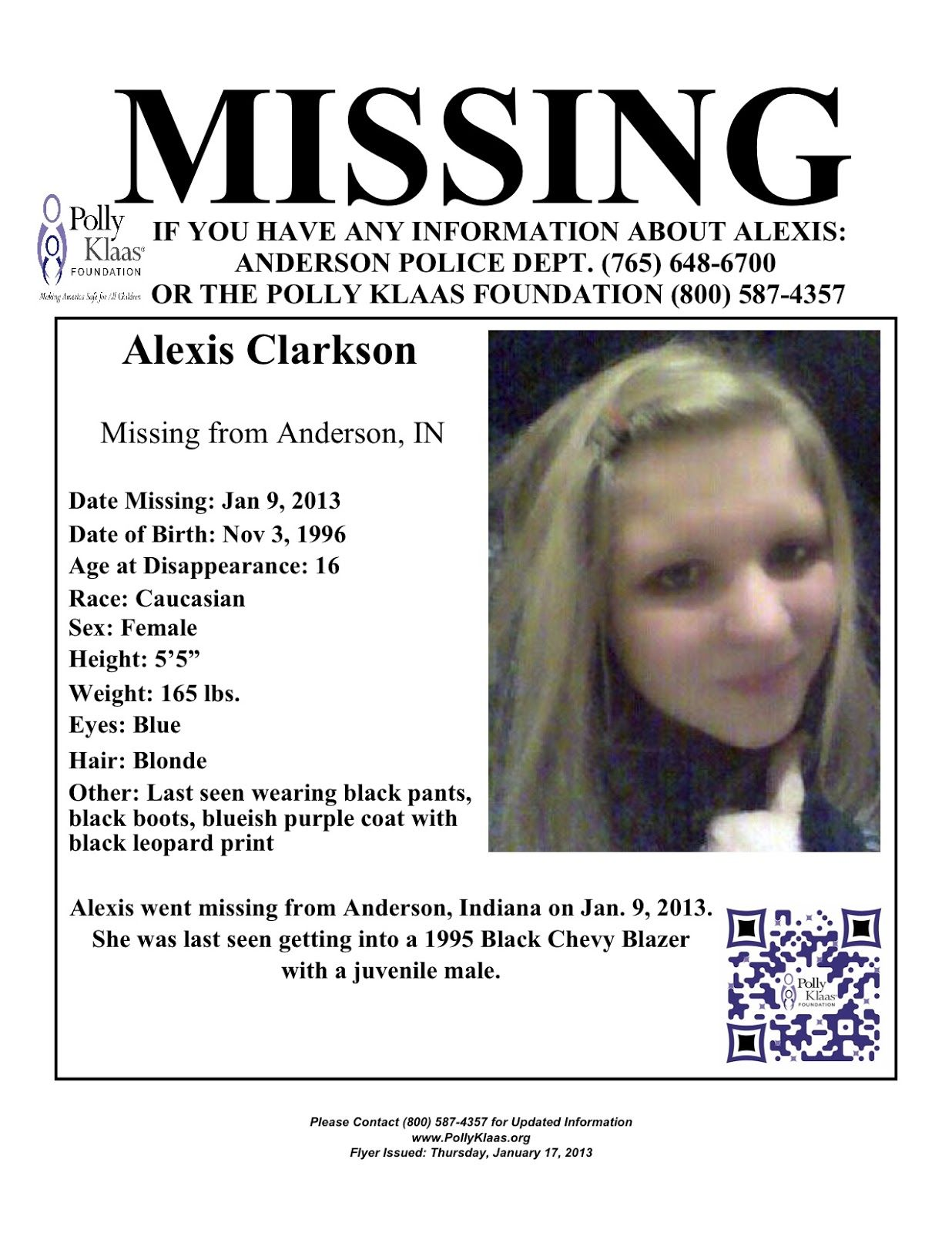 Missing Persons Of America Alexis Clarkson Missing Teen From  1a2d2835f1a4cf563c158072e85cbaef 402720391649325996. Missing Person Poster  Generator  Missing People Posters