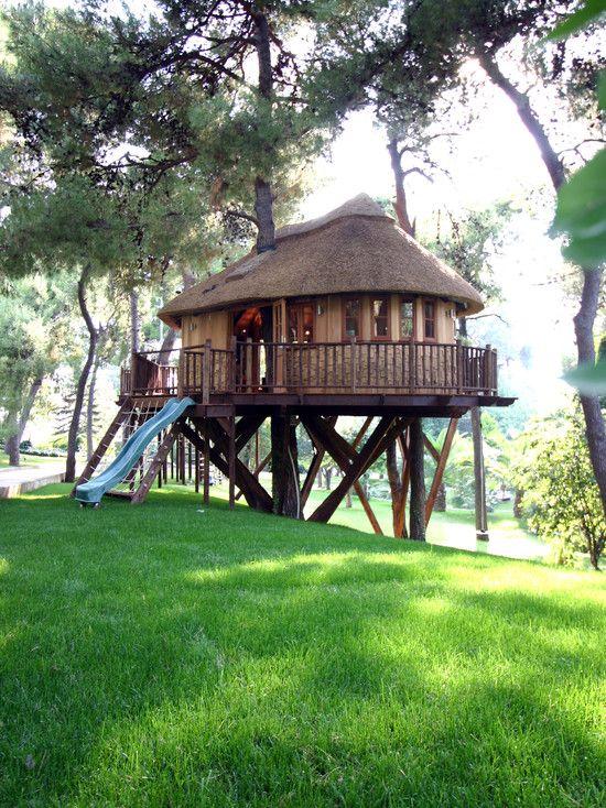 Love this Kidsu0027 tree house Inspiring Pinterest Cabañas - casas en arboles