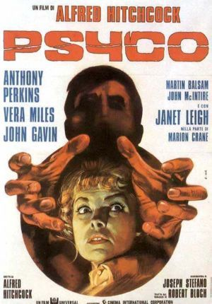 Psycho (1960) movie poster (Italy) It kinda gives the movie's ending away, but I still love this poster