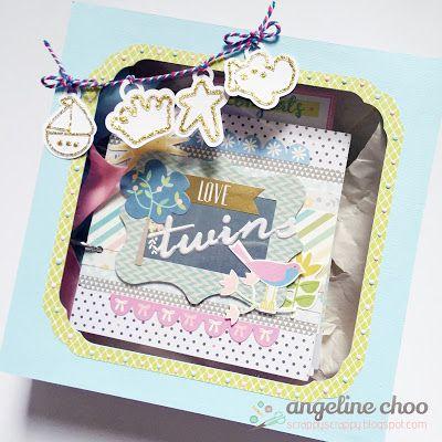 Svg Attic Blog Mini Album Box With Angeline Baby Album Mini Albums Twin Babies