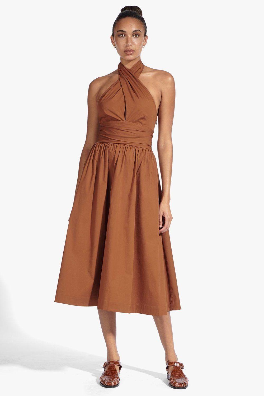 The Moana Dress Is A Wrap Top Midi Dress With A Self Tie Neckline Dresses Moana Dress Midi Outfits [ 1500 x 1000 Pixel ]
