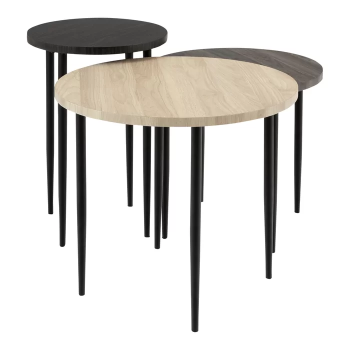 Schmid 3 Piece Nesting Table Coffee Table Round Nesting Coffee Tables Nesting Coffee Tables