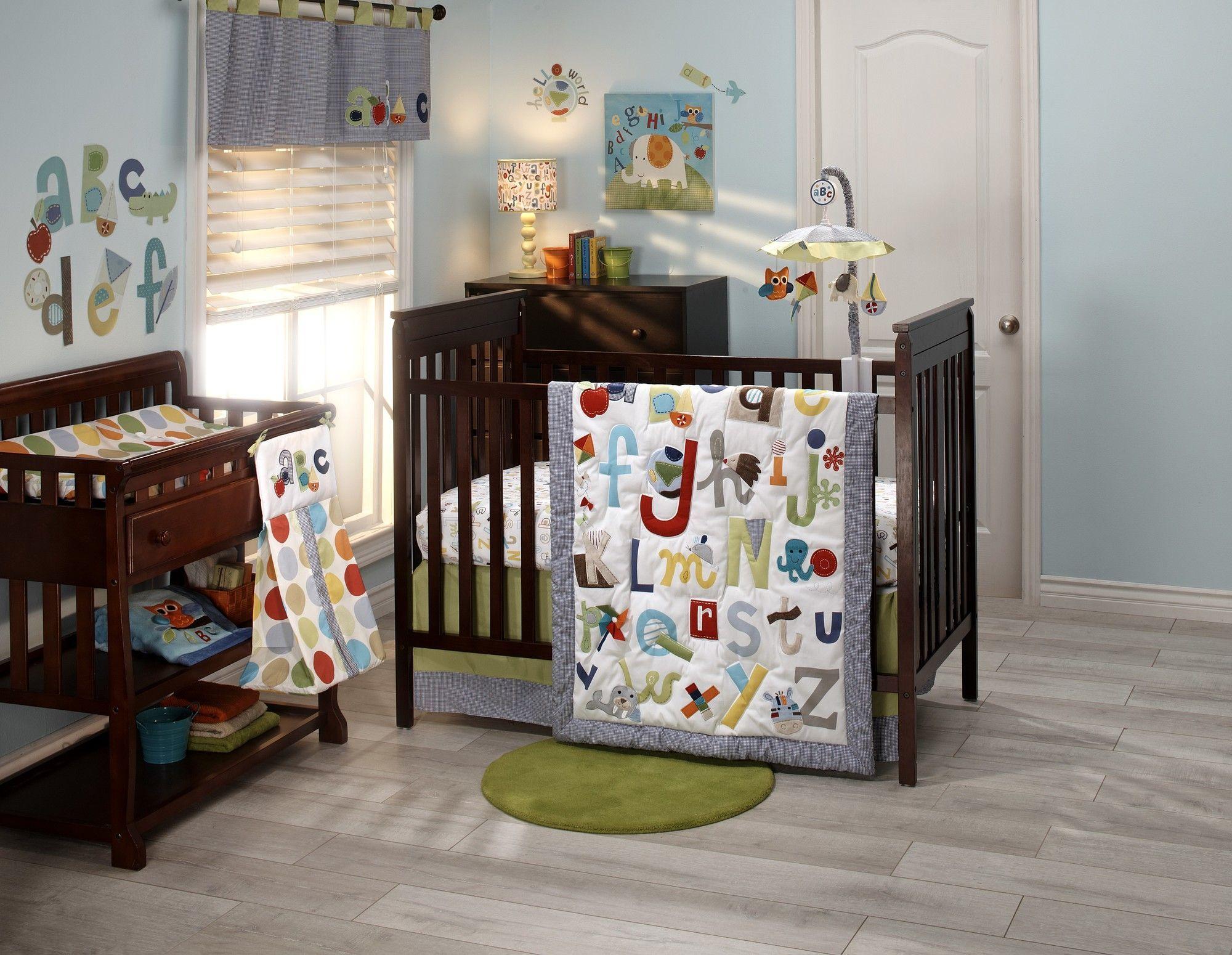 ABC with Me 4 Piece Crib Bedding Set