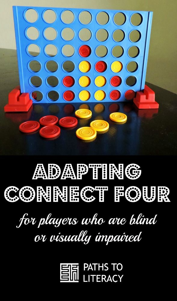 Adapting Connect Four For Players With Visual Impairments Visually Impaired Activities Tactile Activities Connect Four