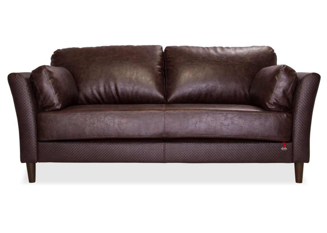 The Base Of Richmond 3 Seater Leatherette Sofa Is One Long Cushion With A Center