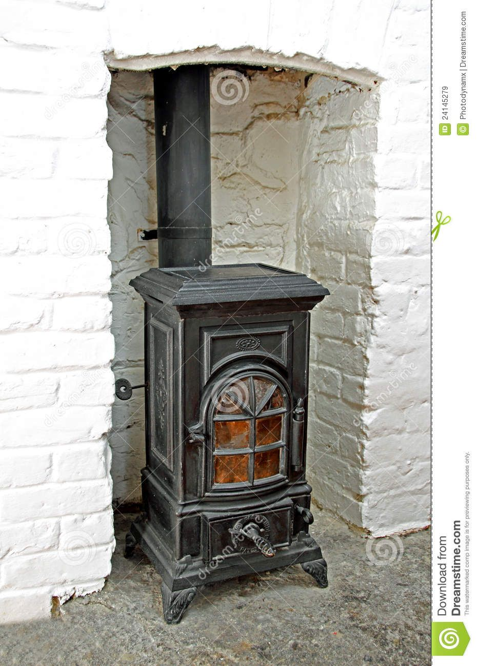 old victorian wood stoves | Photo of a old black iron victorian wood  burning stove in - Old Victorian Wood Stoves Photo Of A Old Black Iron Victorian