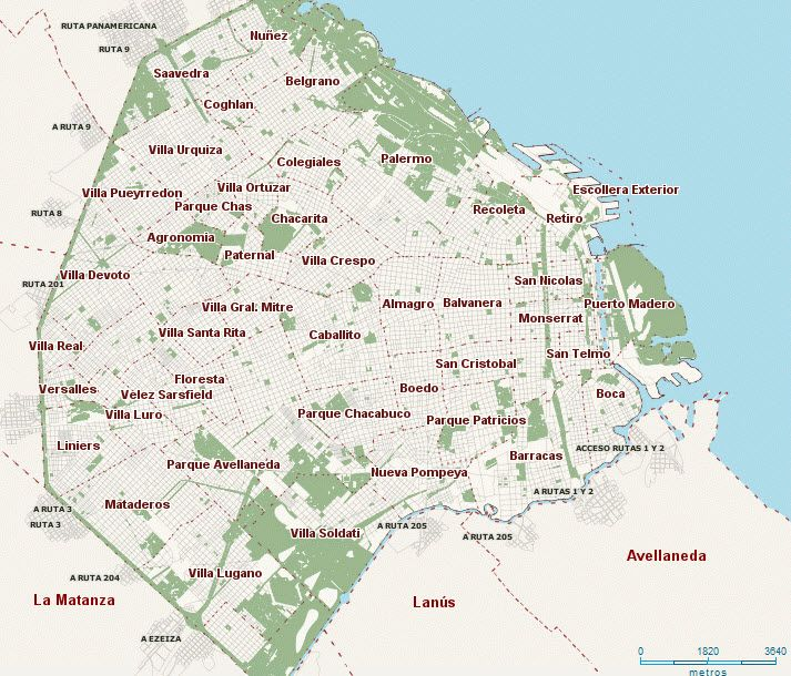 Buenos Aires Argentina Neighborhood Map Argentina Buenos Aires Expat