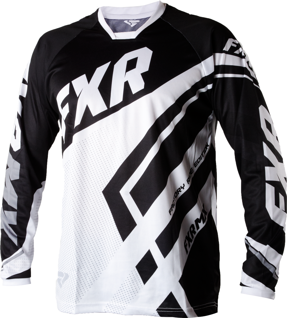 FXR Racing - 2015 MX Apparel - Factory Ride Edition Jersey - Black White 3d3bc163b
