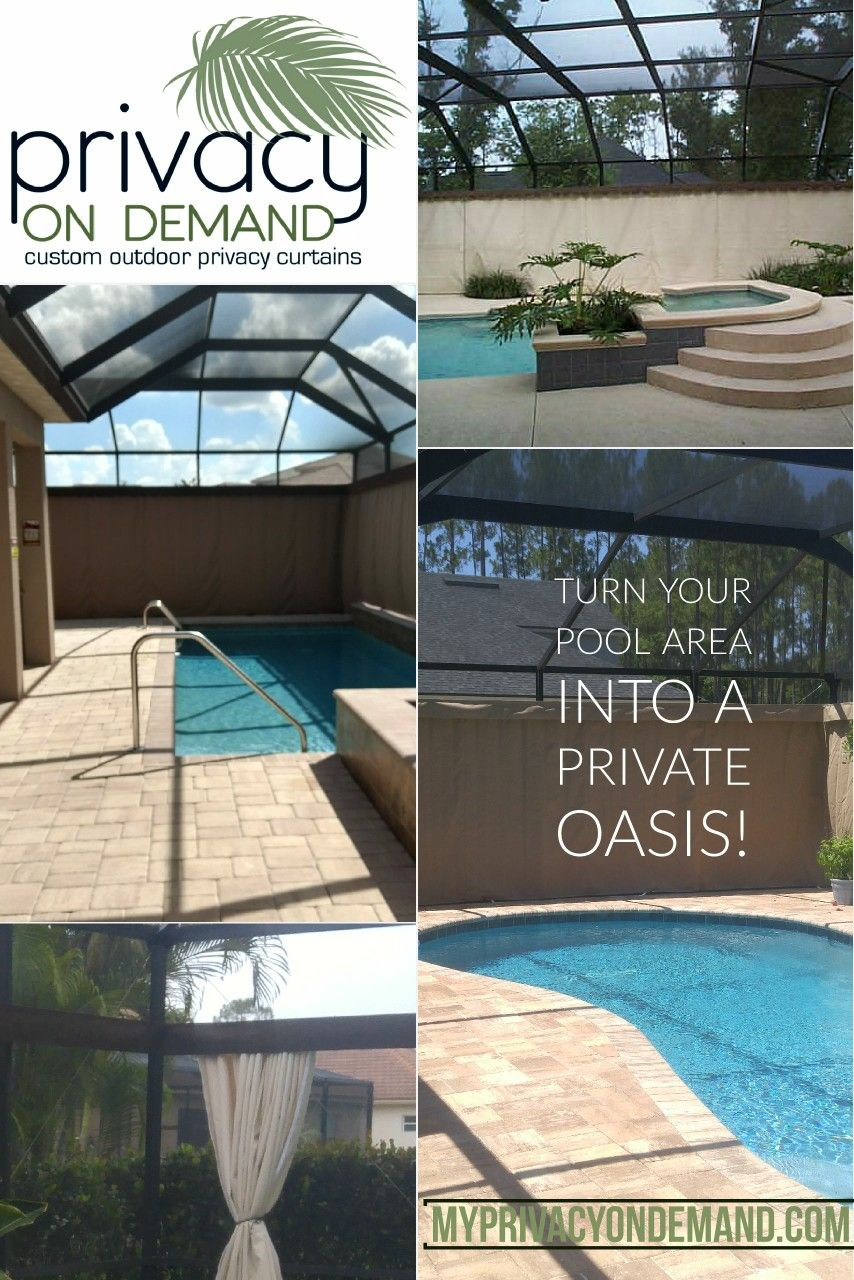 Enjoy Your Pool Area And Have Privacy Outdoor Privacy Fountains Outdoor Small Pools